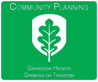 Grandview Heights Growing on Tradition button